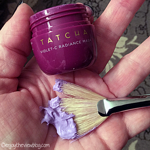 purple cream face mask