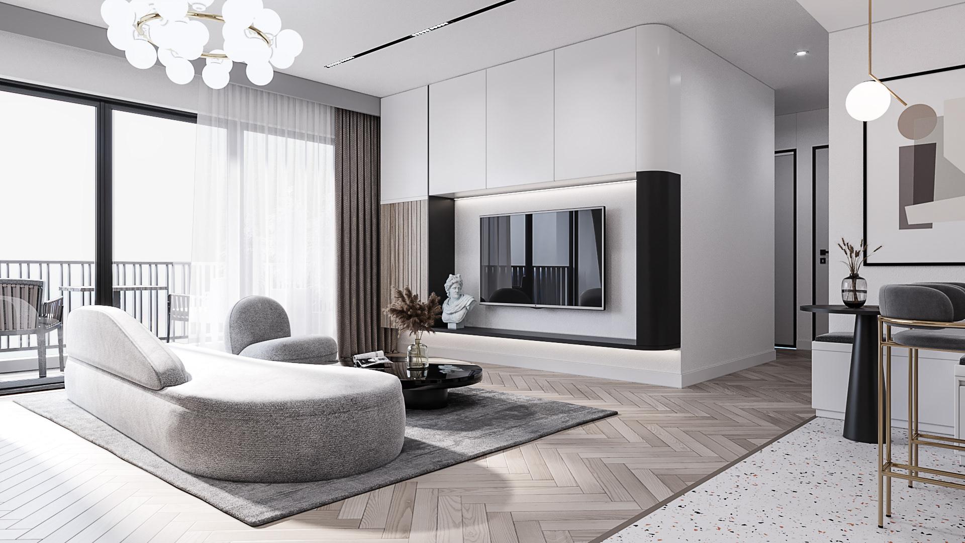 Thiết kế nội thất căn hộ Berriver Jardin