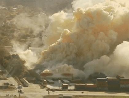 fumaça explosão nitrato amonio sao francisco sul