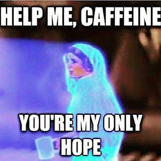 Star Wars Princess Leia runs on coffee, too.