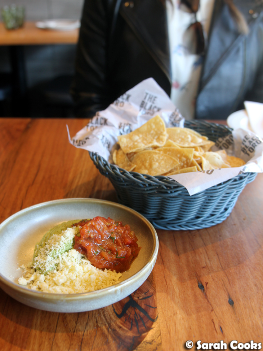 Guacamole and corn chips