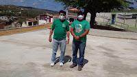 Em Picuí, praças construídas no Limeira são vistoriadas pelo engenheiro do município