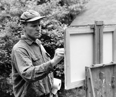 Steve Allrich, painting plein air