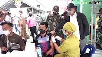 Antusias Rakyat Samosir Warnai Serbuan 3000 Vaksin Kolaborasi Parna Raya & Kodam I/BB