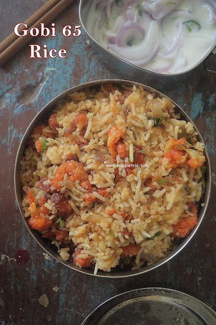 Gobi 65 Rice Recipe | Crispy Fried Cauliflower Rice