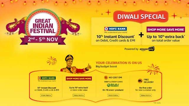 Amazon Great Indian Festival Sale from November 2