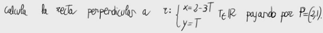 33. Recta perpendicular a una dada pasando por un punto 3