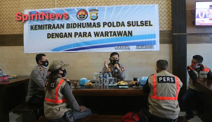 Jalin Silaturrahmi Dengan Wartawan, Bid Humas Polda Sulsel Gelar Coffe Morning
