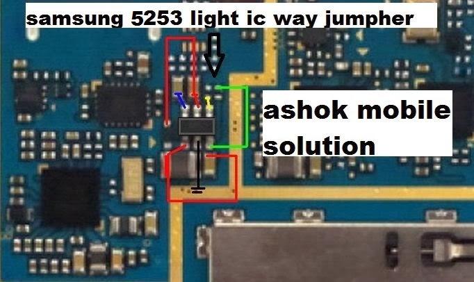 Ashok Mobile Solution  Samsung S5253 Light Ic Jumper