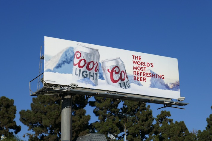 Coors Light worlds most refreshing beer billboard