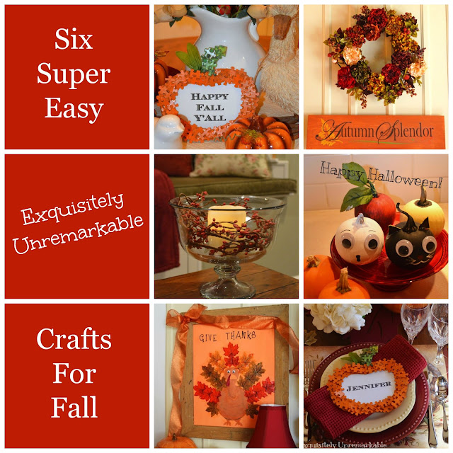 Six super easy Exquisitely Unremarkable Crafts for fall