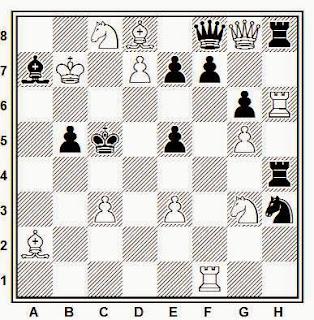 Problema de mate en 2 compuesto por Francisco Armengol (Els Escacs a Catalunya, 1933)