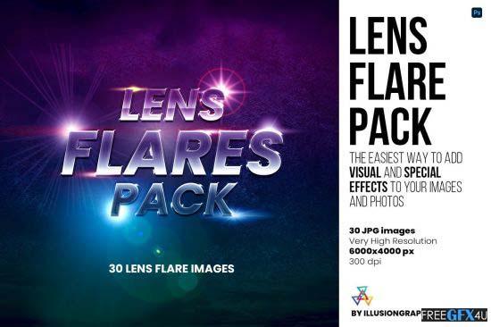 30 Lens Flare Pack