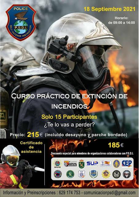 Curso práctico de extinción de incendios (Madrid) IPM PSDI