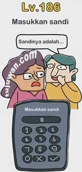 Brain Out : Masukkan Sandi Brain Out / Enter Password Level 186