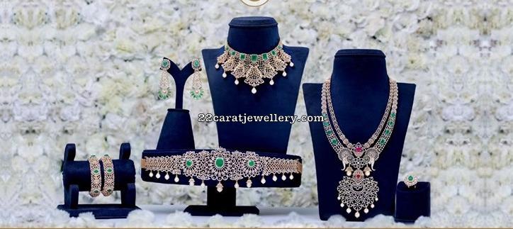 Diamond Wedding Sets by Vajra Jewellers