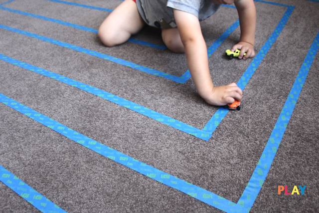 Easy spiral track made with masking tape