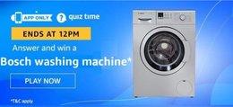 Amazon Quiz 14 December 2019 Answer Win - Bosch Washing Machine