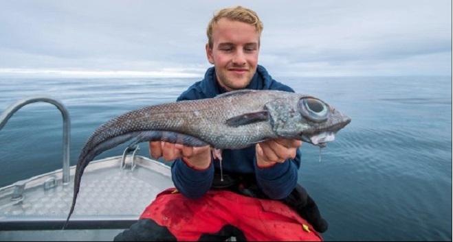 Ο Νορβηγός που έπιασε ένα άγνωστο «ψάρι δεινόσαυρος»  με τεράστια μάτια
