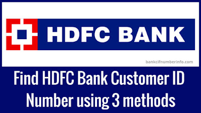 Find HDFC Bank Customer ID