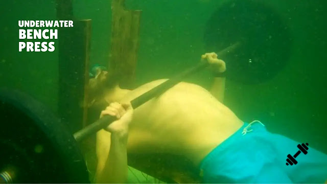 Russian Athlete Achieve World Record Underwater Bench Press