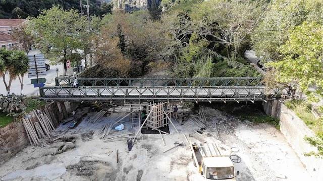 Αργοστόλι: Έργα βελτίωσης γέφυρας τύπου «Μπέλεϋ» από ΓΕΕΘΑ/ΜΟΜΚΑ (ΦΩΤΟ)