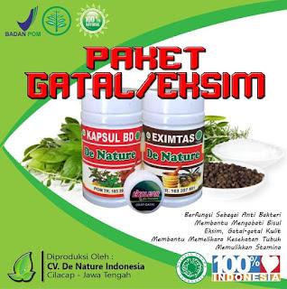 paket obat gatal de nature kapsul bd dan eximtas