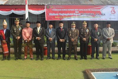 Kakankemenag Hadiri Upacara Pemberian Remisi WBP di Lapas Klas IIB Tanjungbabal