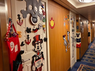 Disney Halloween cruise decorated stateroom doors