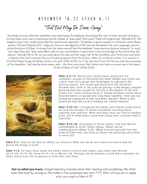 Free Printable Book of Mormon lesson Ether