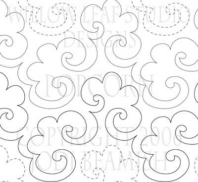 'Popcorn' digital quilt pattern designed by Willow Leaf Studio