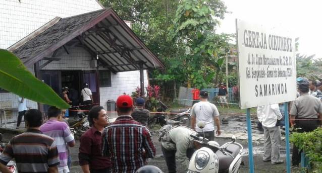 Kronologi Ledakan Bom Molotov di Depan Gereja Oikumene Samarinda