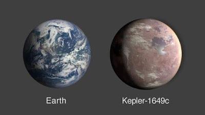 إكتشف علماء الفلك المشابه للأرض من حيث الحجم و درجة الحرارة و يبعد عنه 300 سنة ضوئية Kepler-1649c كوكب