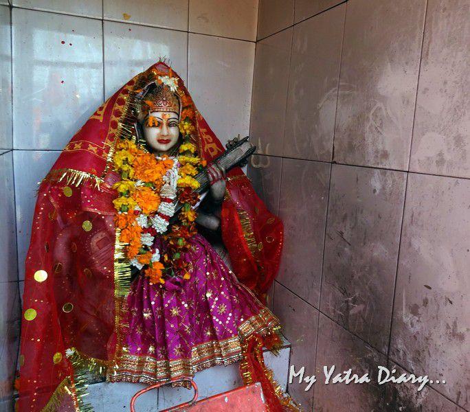 Goddess Saraswati deity in the Girija Mata Temple Uttarakhand