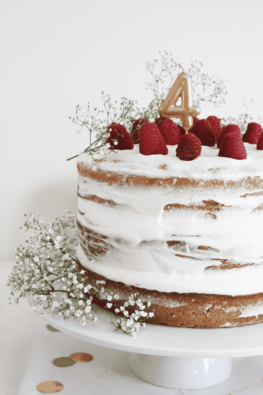 Ma recette du naked cake aux framboises