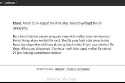 TERBARU ! Cara Download File Google Drive yang Limit
