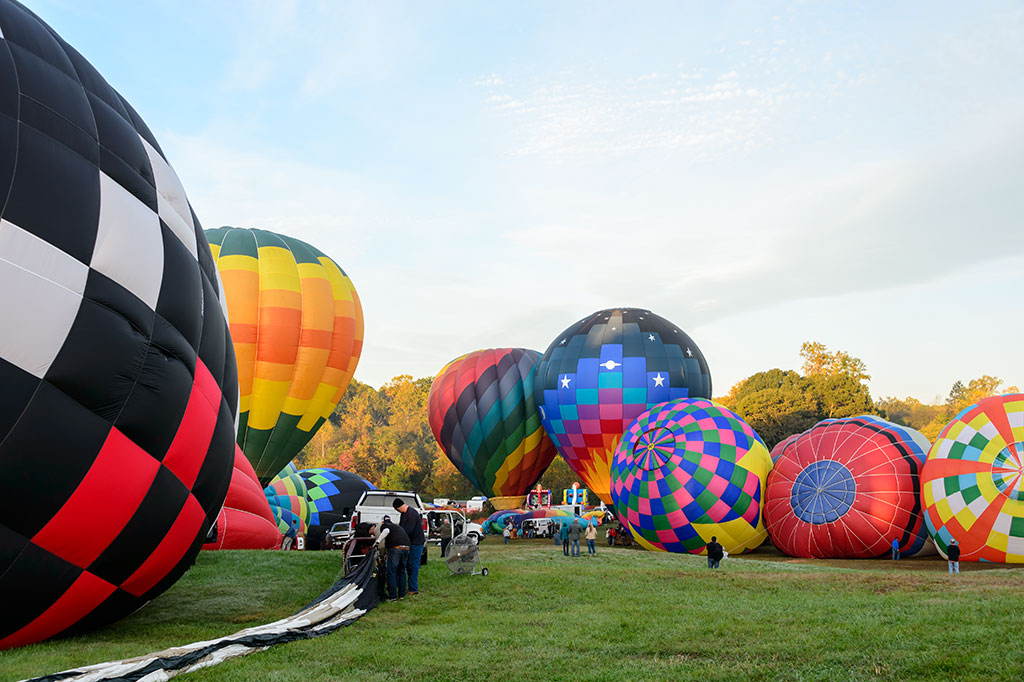 Colorful Hot Air Balloons at Carolina BalloonFest