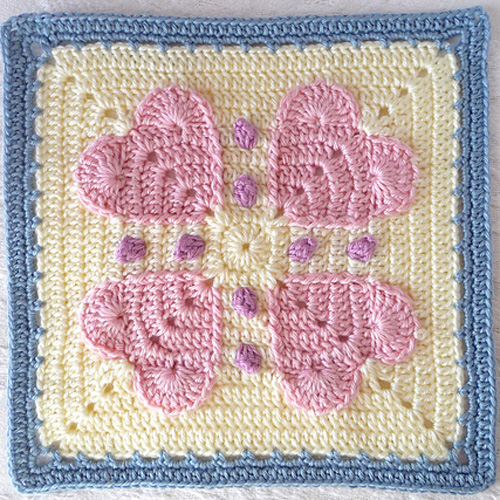 "Never Ending Love 12"" Square - Free Pattern"