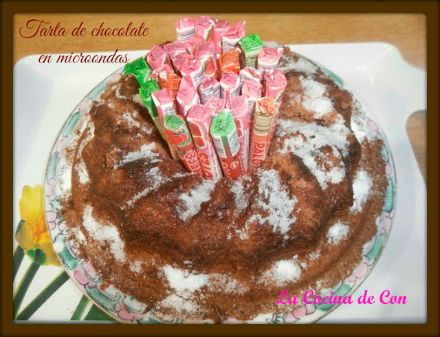 tarta chocolate microondas