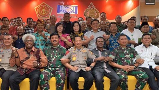 Di Papua, Panglima TNI dan Kapolri Tatap Muka dengan Tokoh Lintas Agama