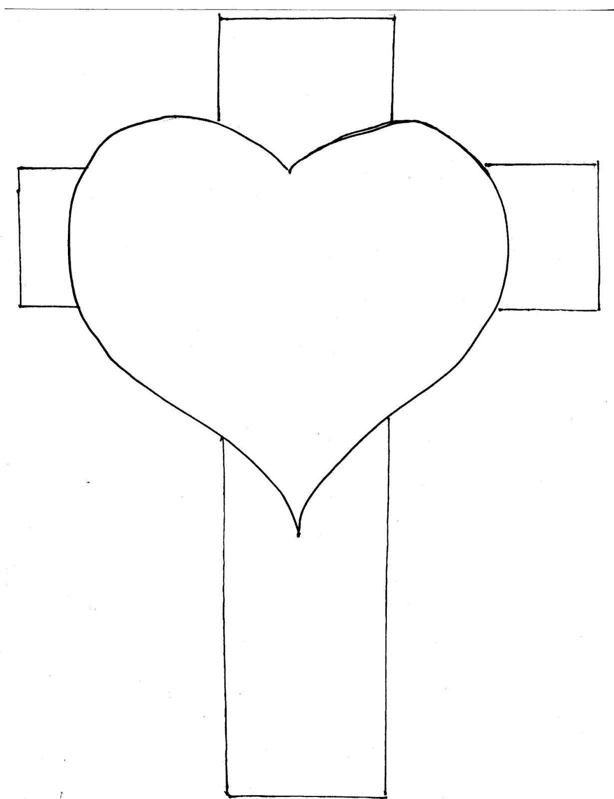 Cross heart coloring page - Use This Graphic For The Mid Sized Banner Symbol And The Full Sized Offertory Gift Coloring Page