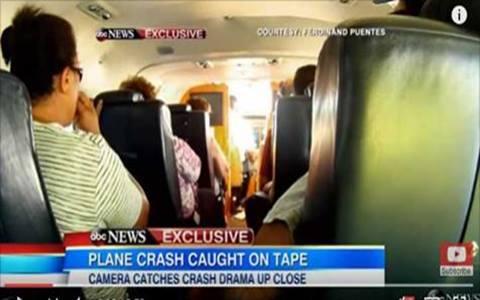 Foto da queda de avião