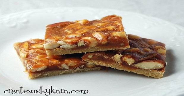 Butterscotch Nut Bars Recipe