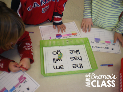 FREE spin a sight word literacy activity center for Kindergarten or First Grade