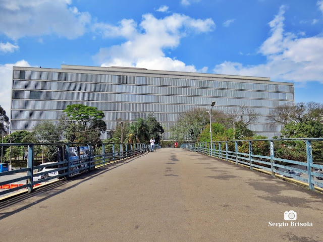 Vista desde a passarela do Museu de Arte Contemporânea - USP - Vila Mariana - São Paulo