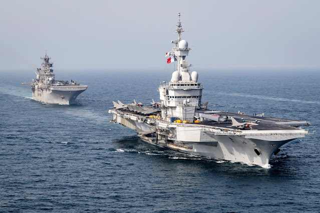 Middle East Naval Exercises of US, Belgium, France and Japan