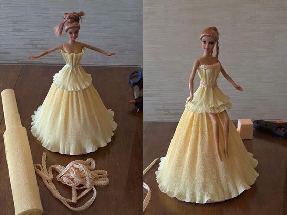 Diy Crepe Paper Barbie Dress The Idea King