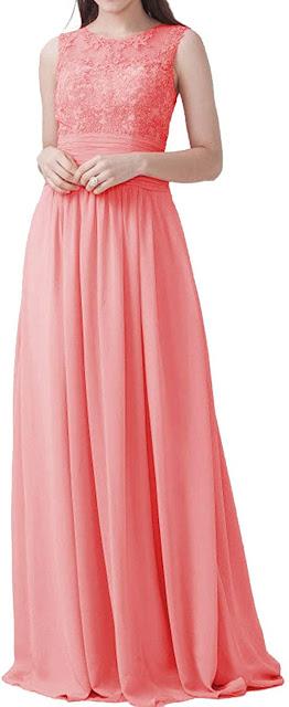 Best Quality Peach Chiffon Bridesmaid Dresses
