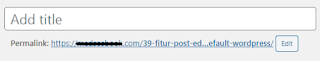 3.Permalink 39 Post Editor Wordpress