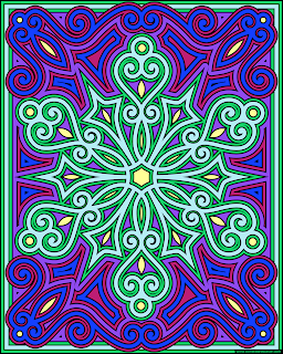Snowflake coloring page- example